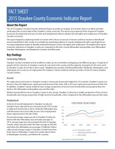 2015 Ozaukee County Economic Indicator Report - Fact Sheet_Page_1