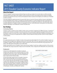 2015 Ozaukee County Economic Indicator Report - Fact Sheet_Page_1