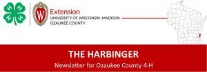 Ozaukee County 4-H Harbinger newsletter graphic